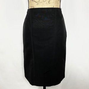 Max Mara Black Short Structured Pencil Skirt